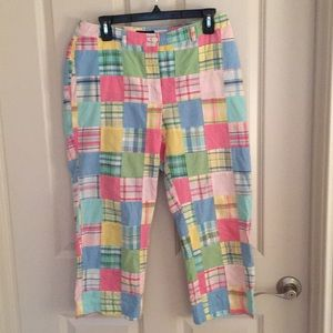 """""""346"""" by Brooks Brothers Capris with Patch Pattern"""